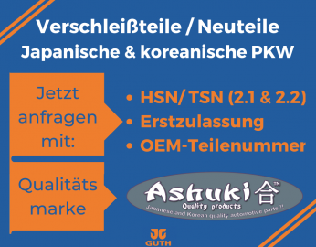 Japanische und Koreanische Ersatzteile Ashuki